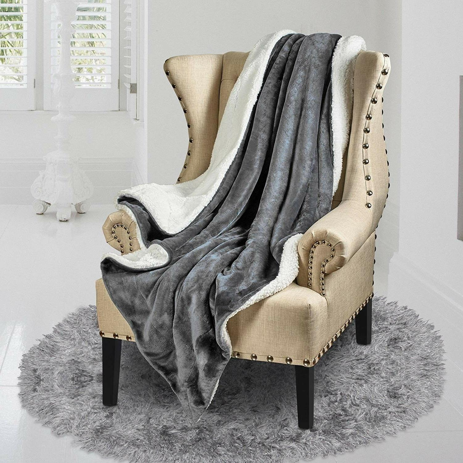 Throw Reversible Genteele Sherpa Luxurious Plush