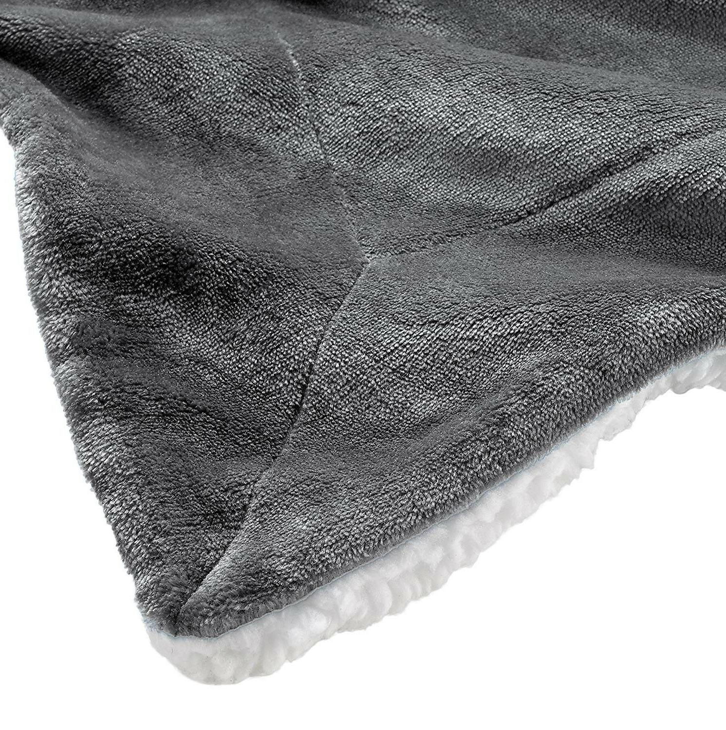 Throw Super Reversible Genteele Sherpa Ultra Luxurious Plush