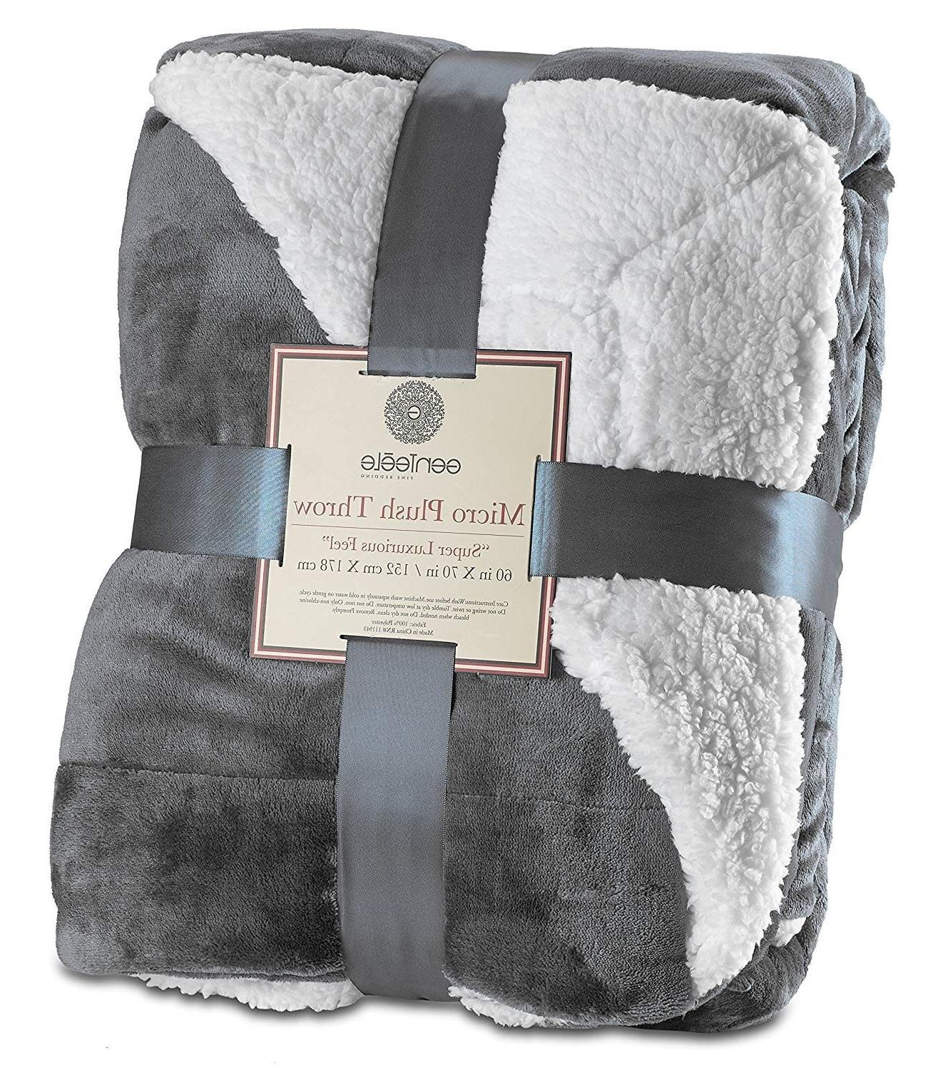 throw blanket super soft reversible sherpa ultra