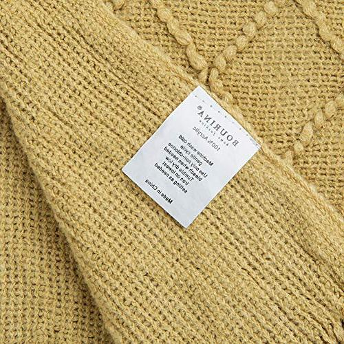 Bourina Solid Soft Sofa Decorative Knitted Blanket, x