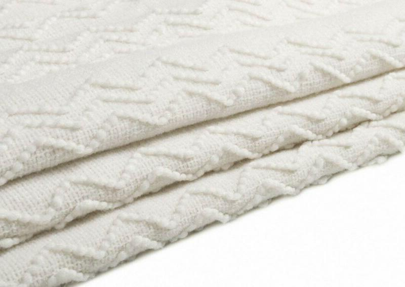 Bourina Throw Solid Soft for Couch Decorative Blan