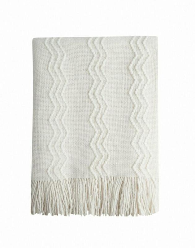 throw blanket textured solid soft for sofa