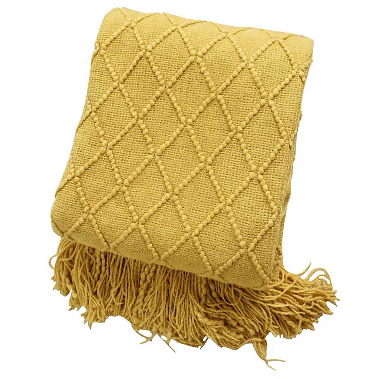 "Boritar Throw Knit Textured Solid Winter Bed Sofa 50x60"""
