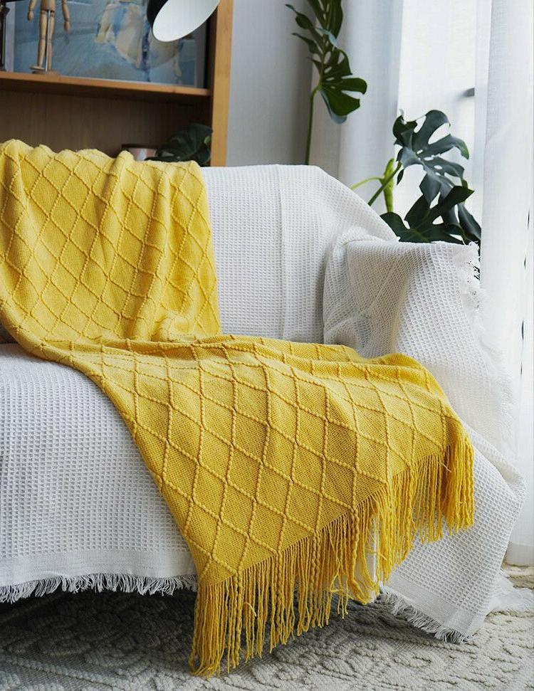 "Boritar Blanket Warm Knit Textured for Winter 50x60"""