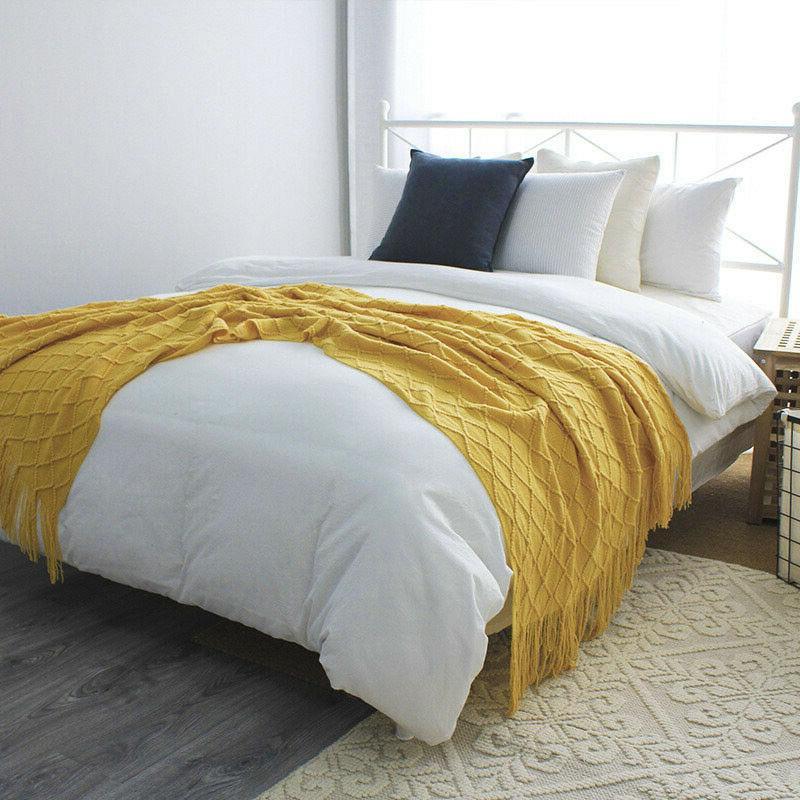 "Boritar Blanket Warm Knit Textured Winter Sofa 50x60"""