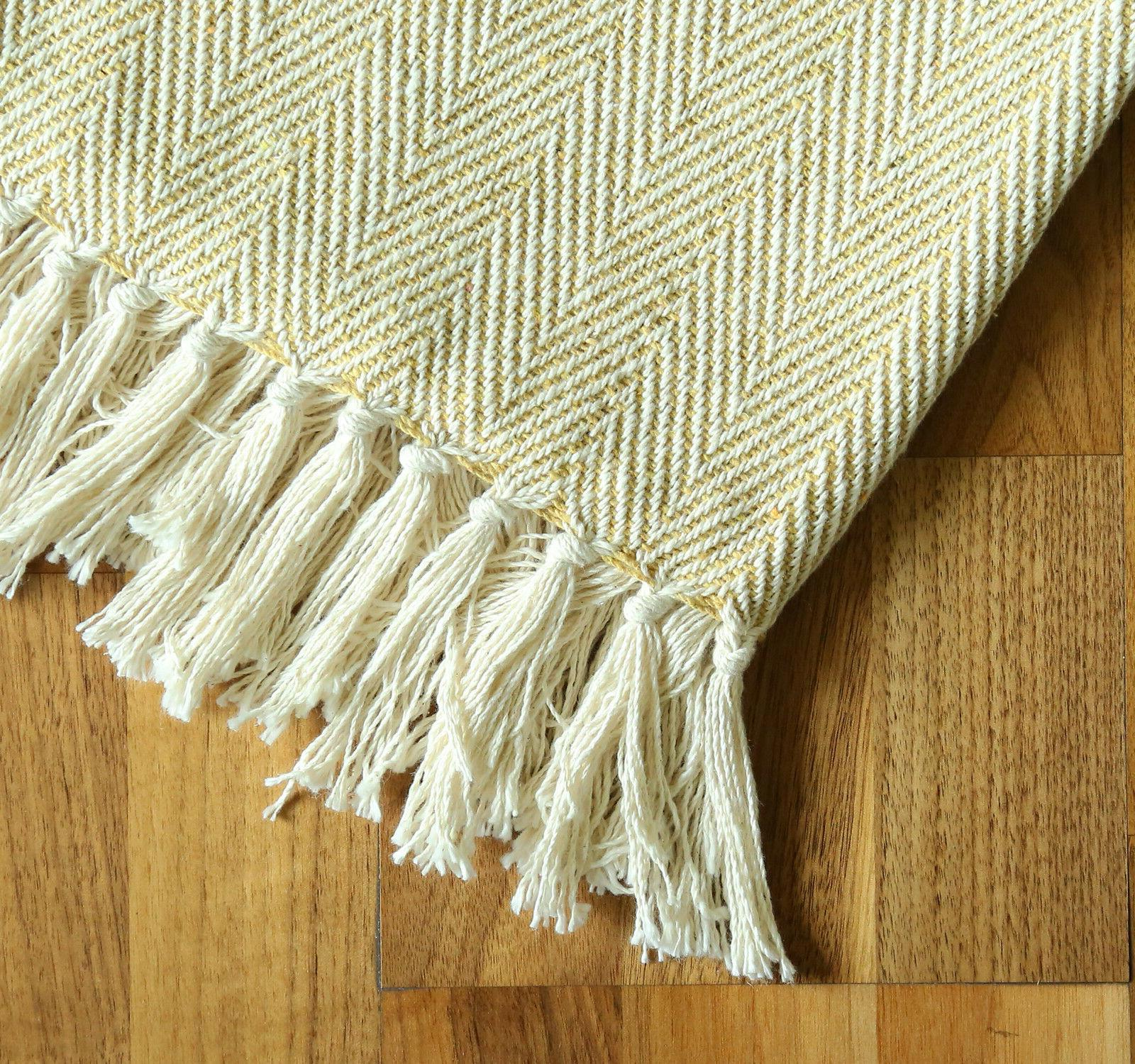 Throw Blanket Woven Travel X Decorative
