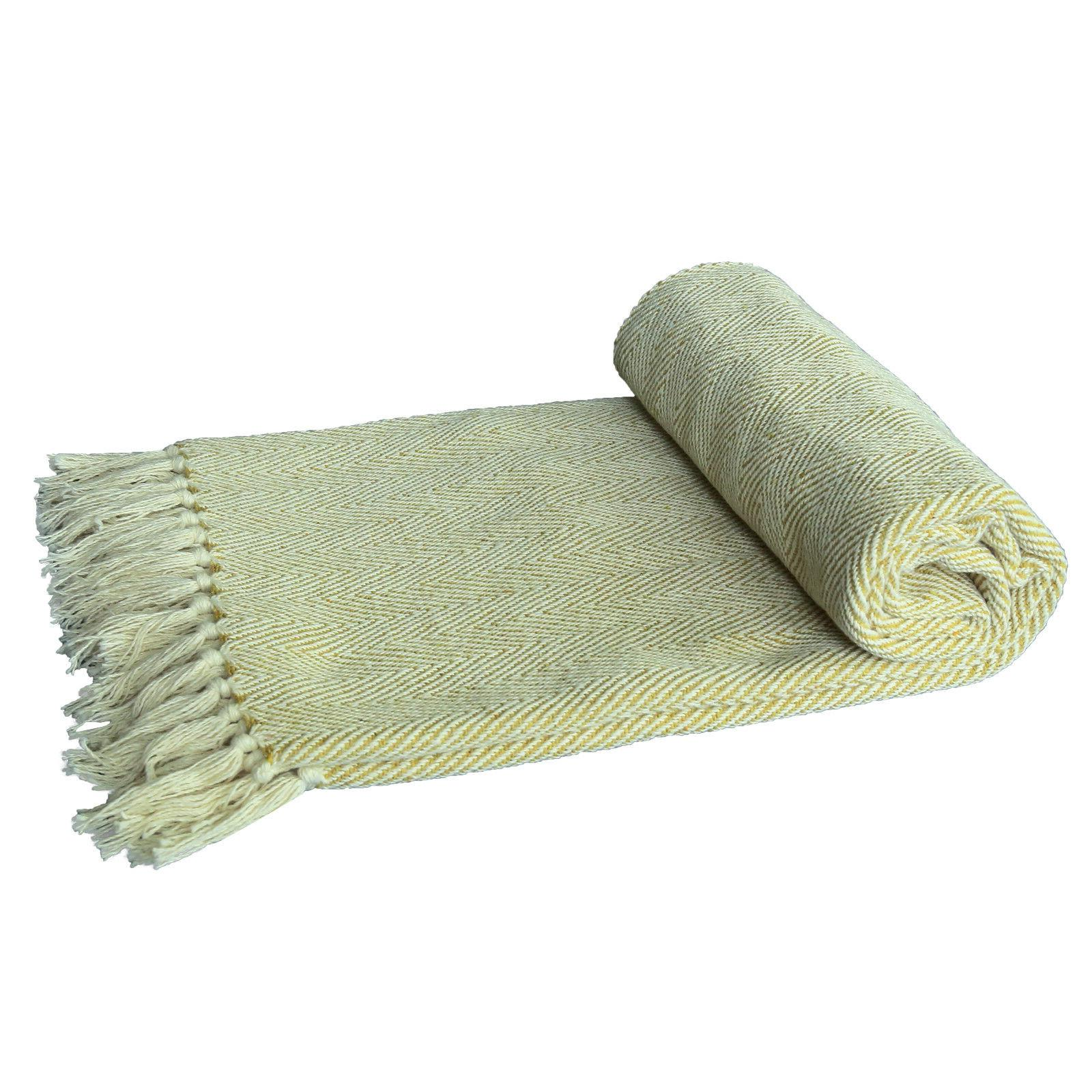 Throw Blanket Woven Decorative