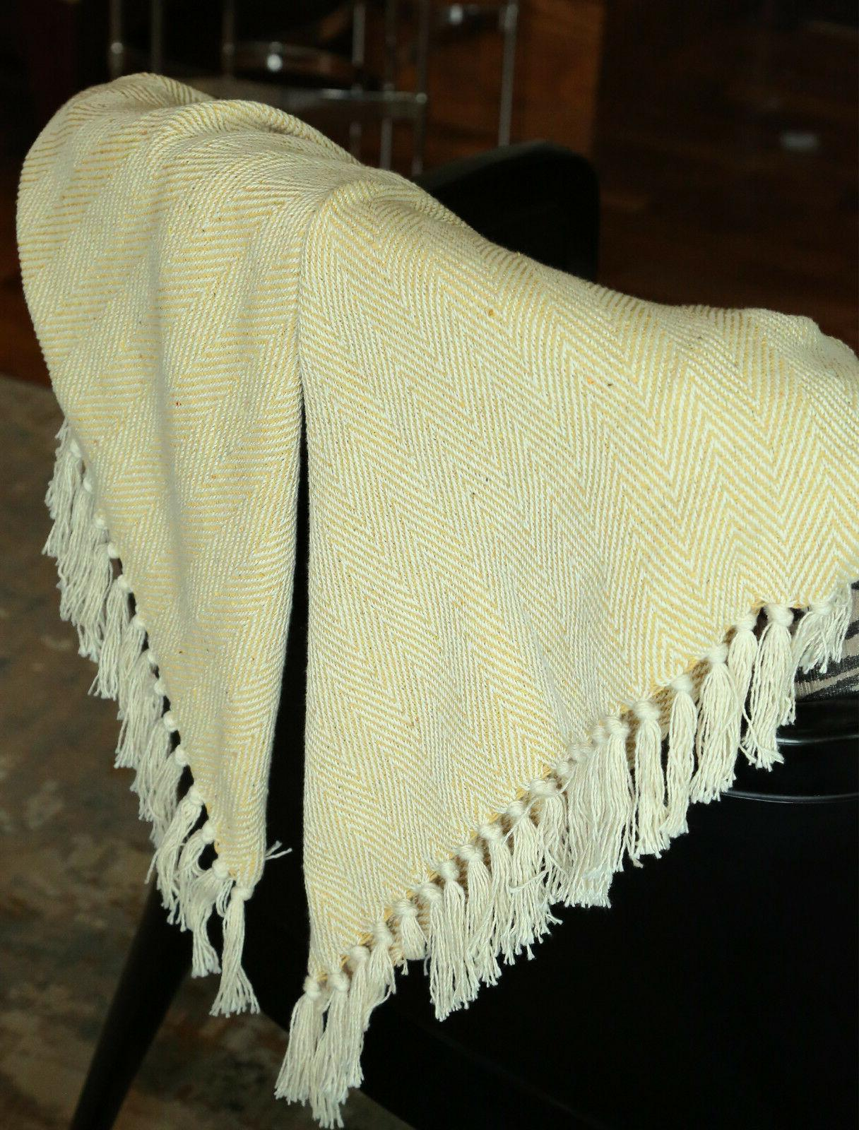 """Throw with Woven X 60"""" Decorative"""