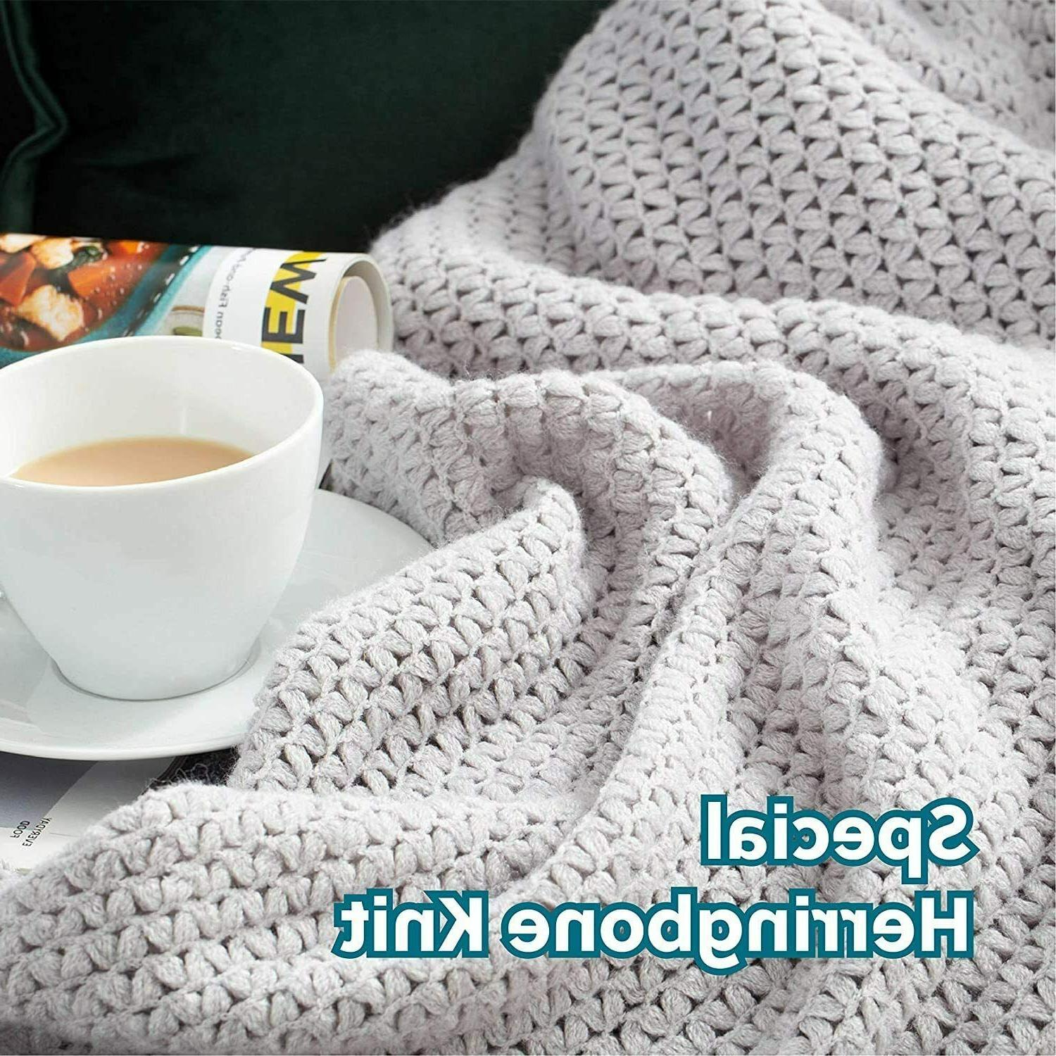 Bedsure Couch Soft Woven Blanket 50x60 Lightwe...