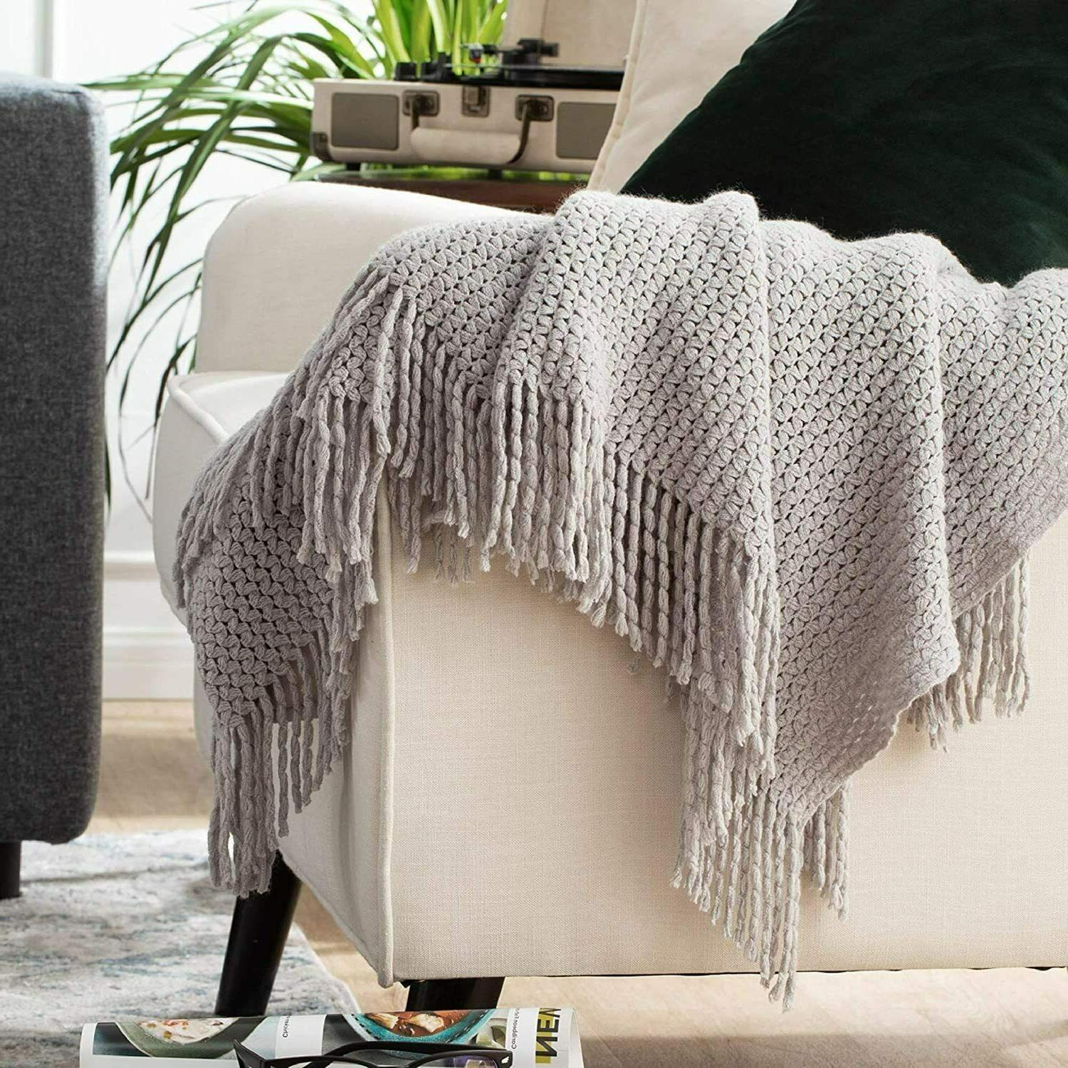 Bedsure Couch Soft Knit Blanket 50x60 Inch Lightwe...