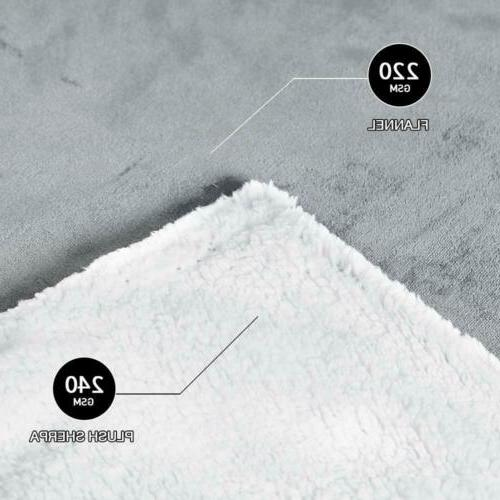 Throw Blanket Soft Reversible 50×60