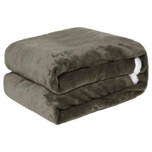 Throw Blanket Reversible Plush Warm Bed US