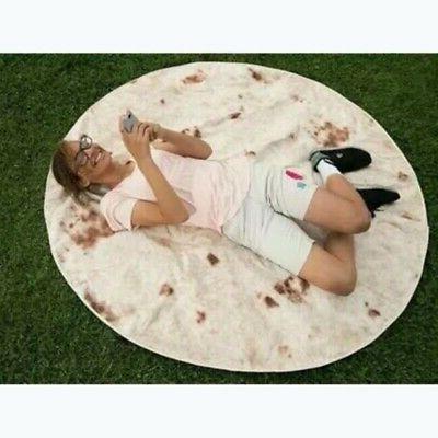 Round Taco Burrito Shaped Blanket Wrap