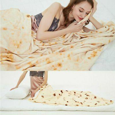 Round Taco Tortilla Shaped Blanket Wrap Throw New