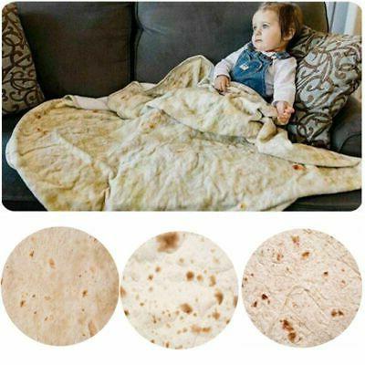 Round Tortilla Shaped Blanket Soft Wrap Throw