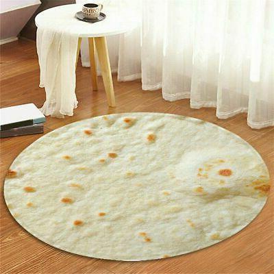 Round Taco Burrito Shaped Blanket Soft Wrap Throw Blanket New