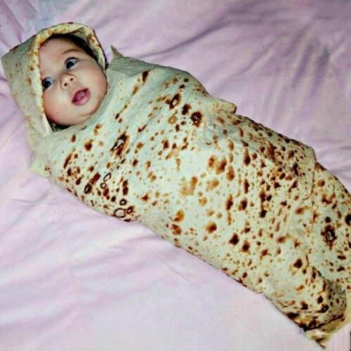 Tortilla Blanket Baby Adult Camping Corn and