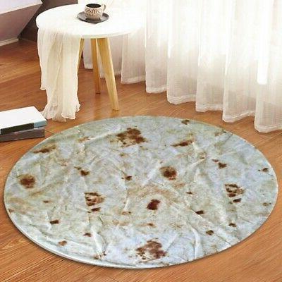 US Burrito Blanket Throw Tortilla Texture Soft Fleece Throw Soft