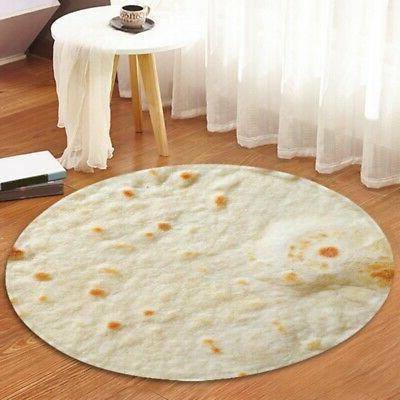 Tortilla Blanket Corn Soft Flannel Throw Mats
