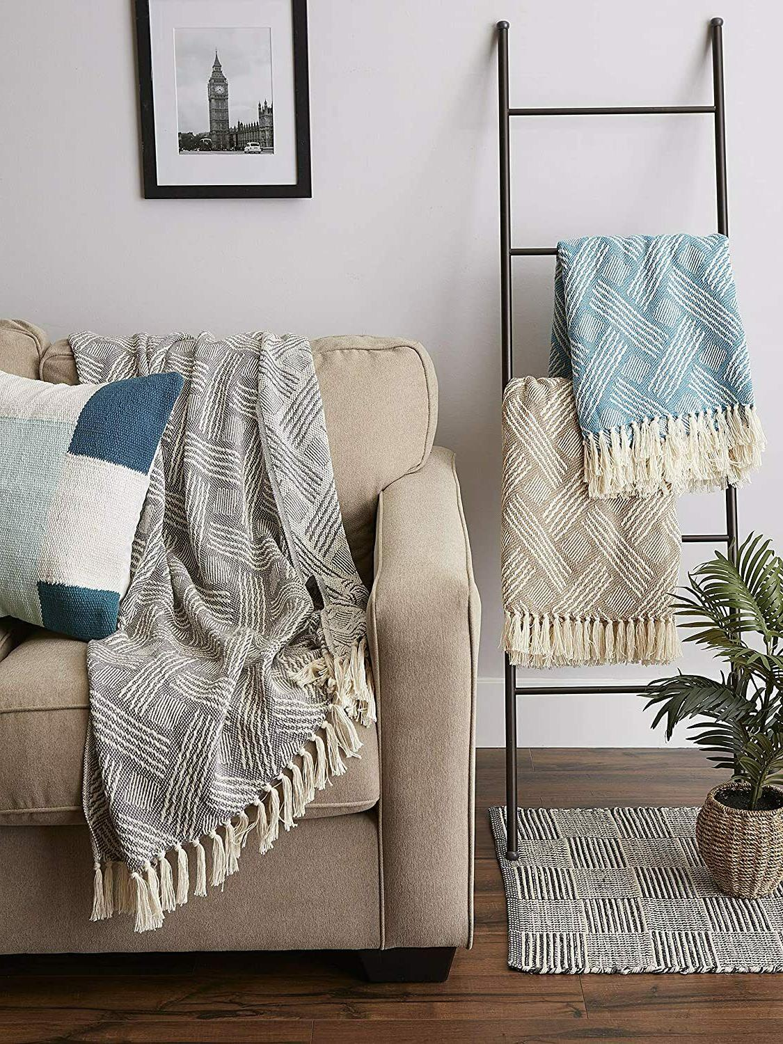 """DII Transitional Woven Throw Blanket, 60"""","""