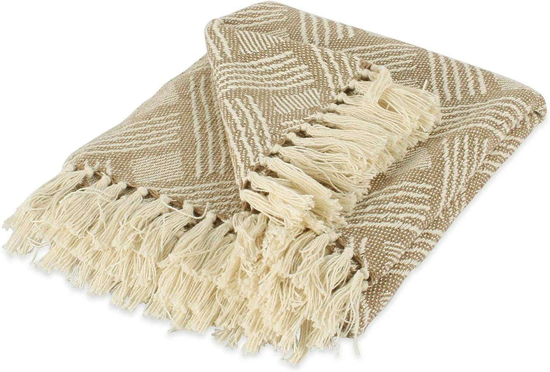 transitional basketweave woven throw blanket 50 x