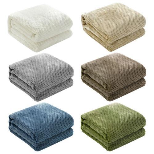 Soft Fur Blanket Flannel Fleece Lightweight