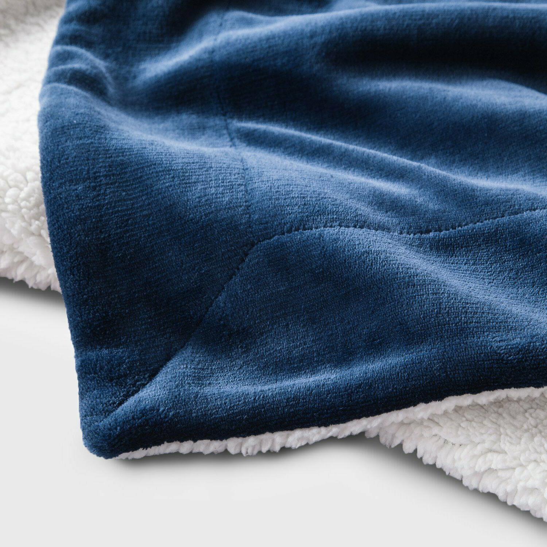 Twin Sherpa Fuzzy Blue Warmer