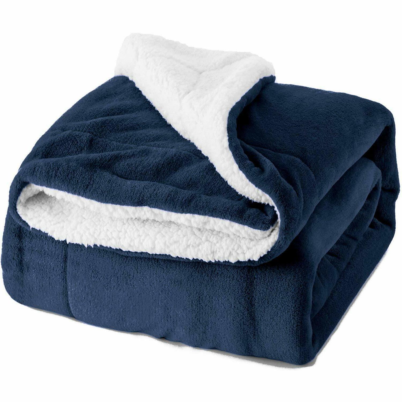 Twin Fuzzy Blanket Blue Warmer