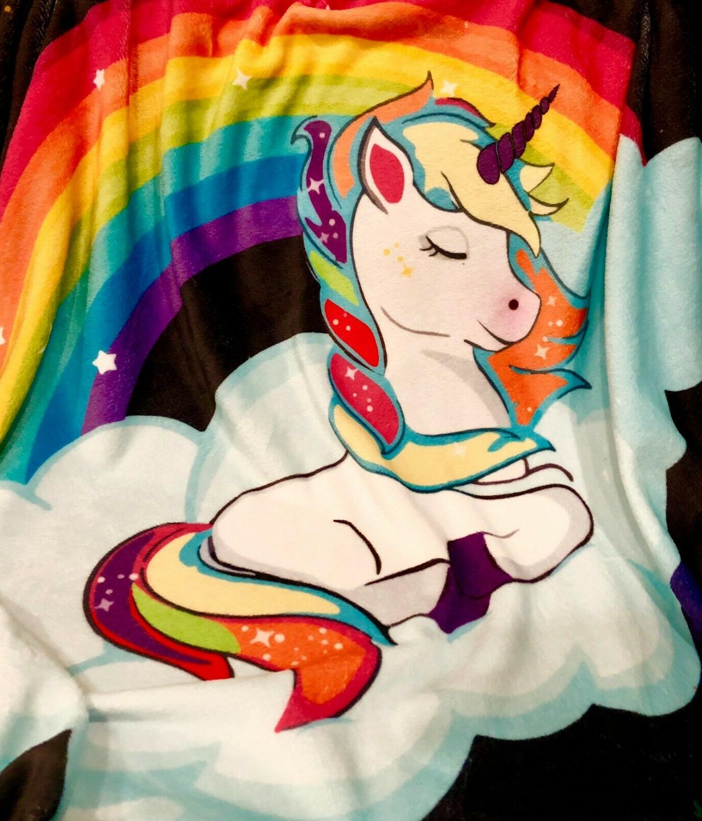 Unicorn Blanket for and Plush Soft Throw Blanket