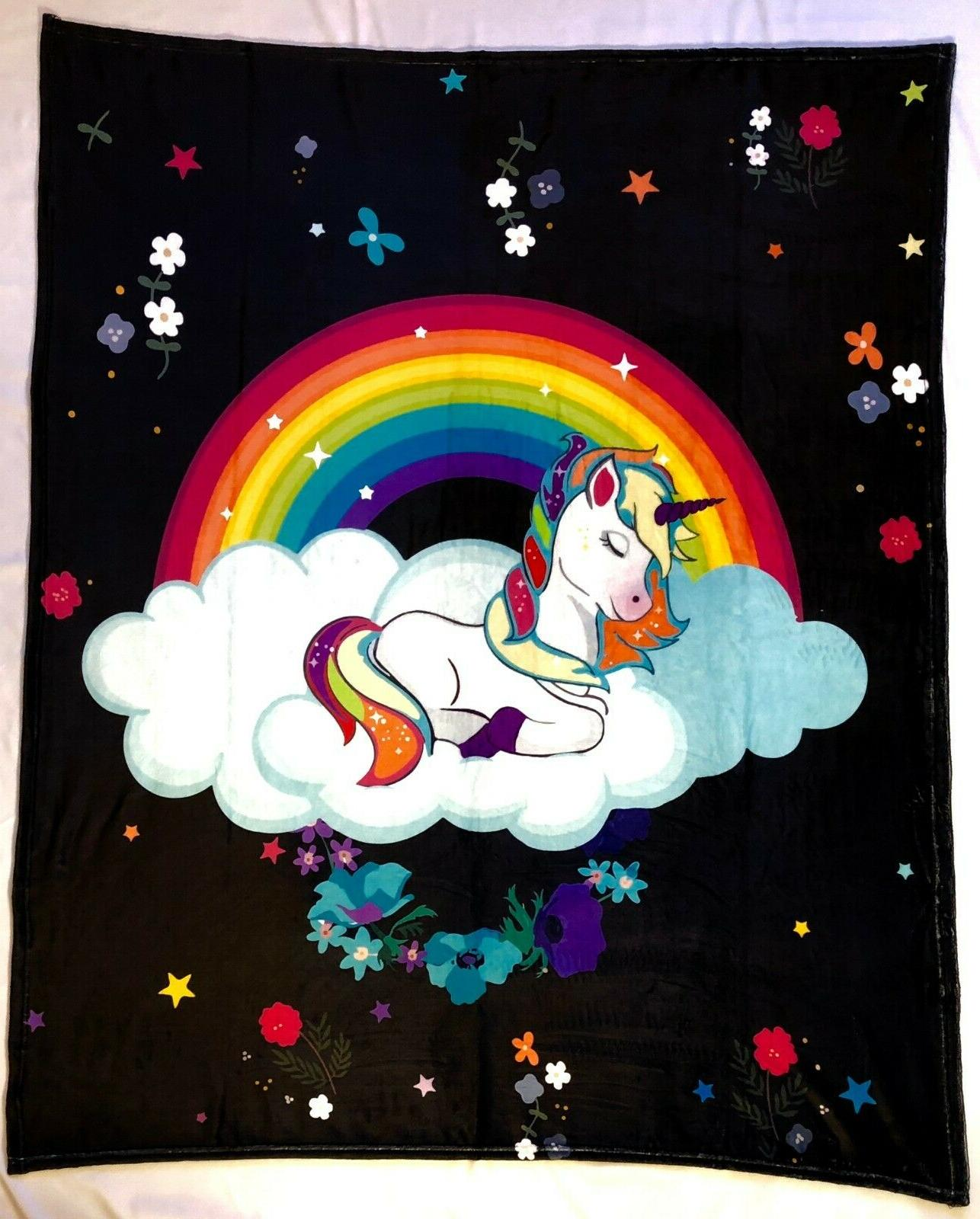 unicorn blanket for girls and boys fleece