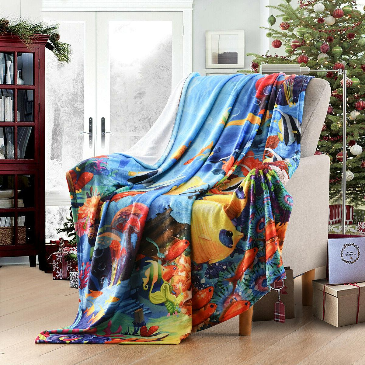 """Holiday Fleece Blanket Gift 50""""x"""