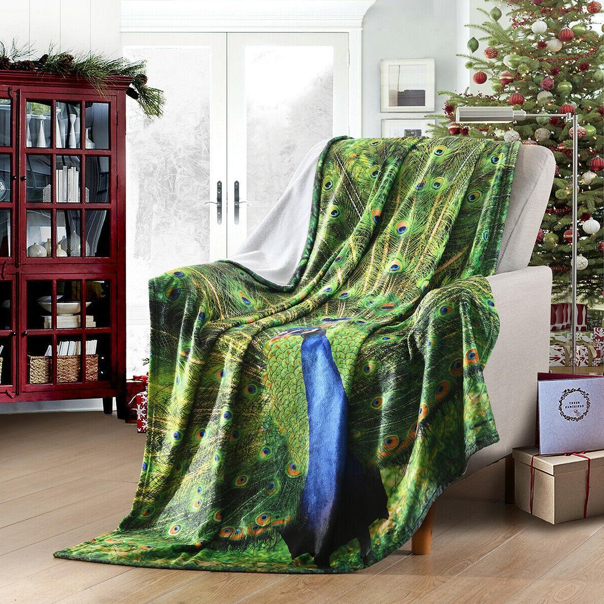 "Holiday Fleece Throw Blanket Fuzzy Warm Throws Best Gift 50""x 60"""