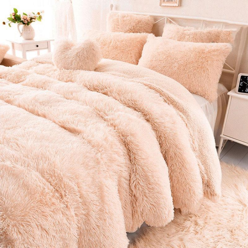 US Long Super Throw Blanket Fluffy Faux Fur Sheet OCC