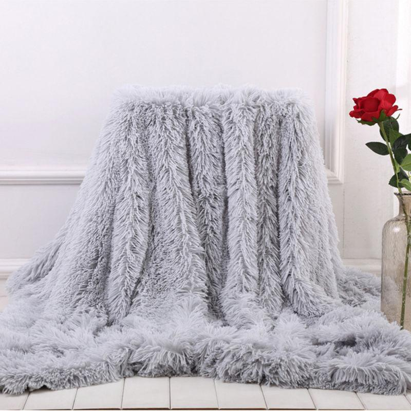 US Shaggy Super Throw Blanket Fluffy Fur Sheet