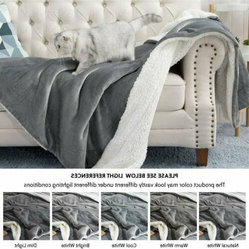 US Sherpa Blanket Fuzzy Fleece Blankets Extra Soft Bed Sofa