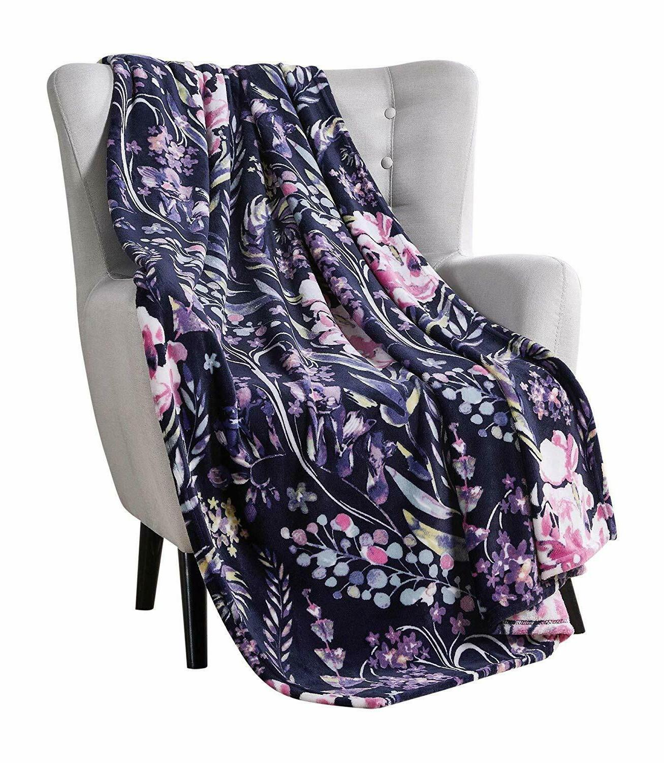 vcny decorative throw blanket swaying floral vibrant