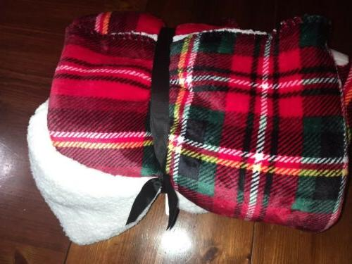 "Victoria's Secret Sherpa Blanket 50""x60"""
