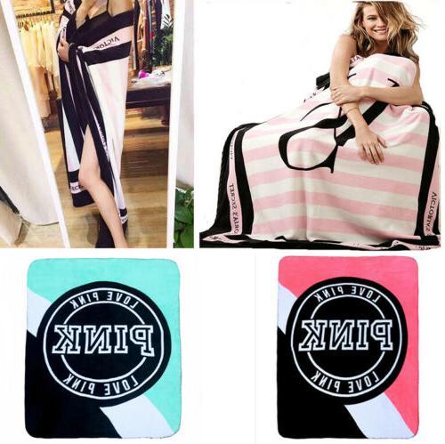 VS Love Pink Plush Throw Coral Flannel Blankets Velvet Winte