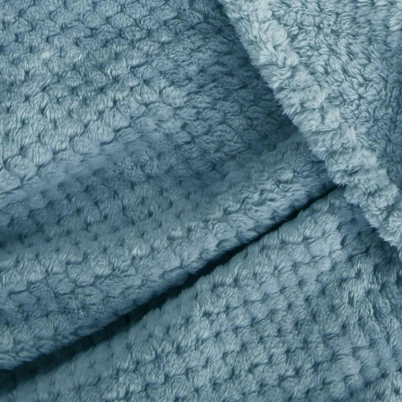 "Exclusivo Waffle Fleece Velvet Plush Blanket – 50"" 60"""
