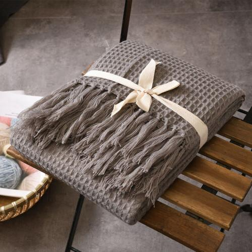 Waffle Blanket Sofa Couch