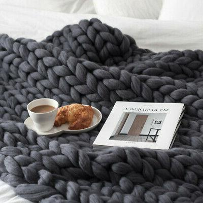 Blanket Thick Line Knitted Decor