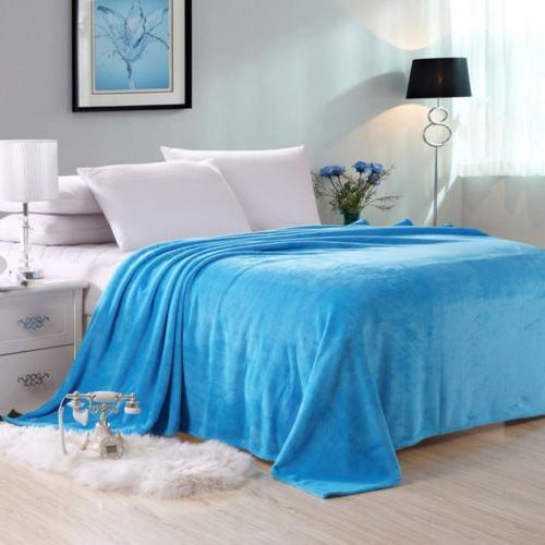 Warm Throw Plush Velvet Home Bed Queen