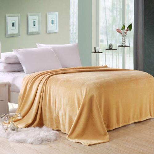 Warm Plush Sofa Home Bed Fleece Queen