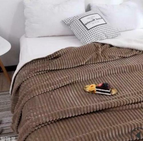 Warm Super Plush Blanket Sofa Home Queen King