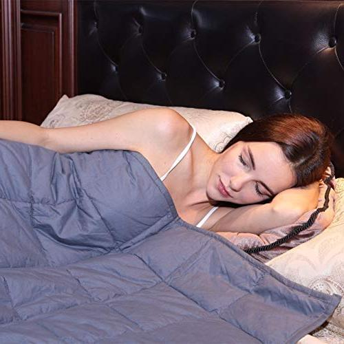 Kpblis Weighted Blanket lbs for 30-70 Cotton 2.0,