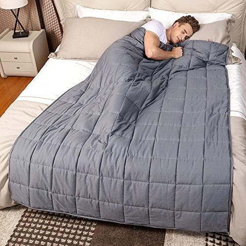Weighted Blanket with Anxiety by Anjee Therapy, lbs Weighted - lbs for Sleep Stress Relief