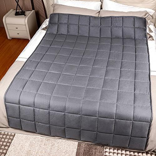 Weighted Blanket with Anxiety Therapy, lbs Autism Weighted for for Better Sleep Stress