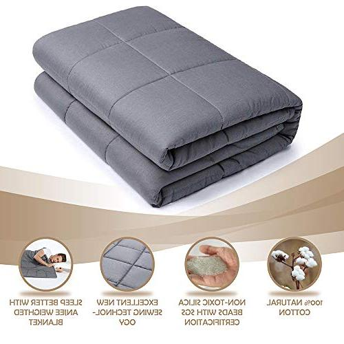 Anjee Weighted Blanket for Adults , Blankets Throws for Relaxation, Fall Asleep and Better, Idea Gift