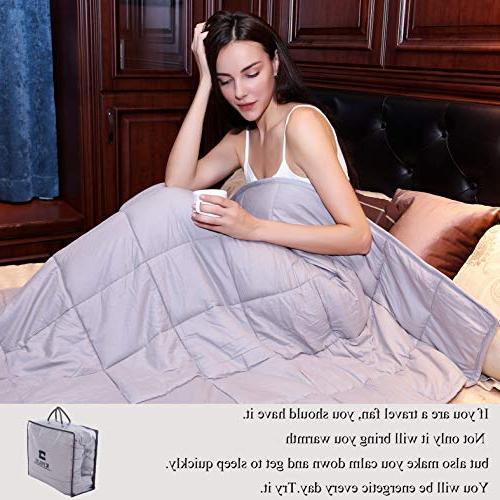 """Kpblis lbs x 48"""" for 30-70 lbs, 100% Cotton Fabric Throw 2.0, Light"""