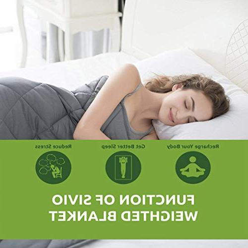 Sivio Weighted Blanket for Adults | 100% Material Beads | Great